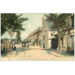 carte postale ancienne 14 DIVES. Commerce Ambulant devant Hostellerie Guillaume Rue Hasting 1905