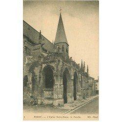 carte postale ancienne 78 POISSY. Eglise 1916 le Porche