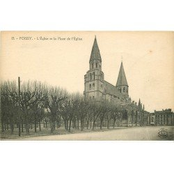 carte postale ancienne 78 POISSY. Eglise Place