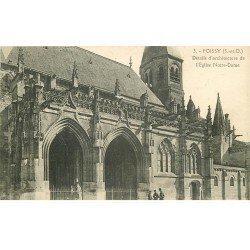 carte postale ancienne 78 POISSY. Eglise et Militaires