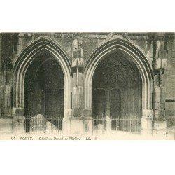 carte postale ancienne 78 POISSY. Eglise Portail