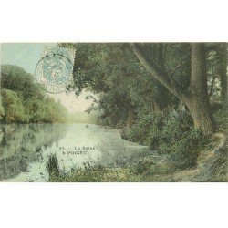 carte postale ancienne 78 POISSY. La Seine 1905