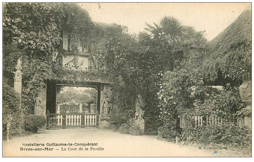 carte postale ancienne 14 DIVES. Hostellerie Cour de la Pucelle