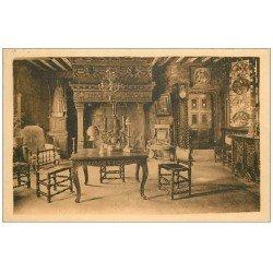 carte postale ancienne 14 DIVES. Hostellerie Salle de la Pucelle 1933