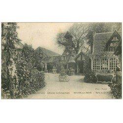 carte postale ancienne 14 DIVES. Hostellerie Salle Louis XIV jardin