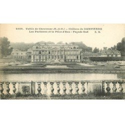 carte postale ancienne 78 VALLEE DE CHEVREUSE. Château Dampierre Pièce d'Eau