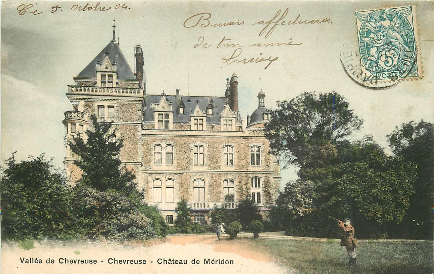 78 vallee chevreuse ch teau de m ridon 1904 avec chasseur for Jardinier 78