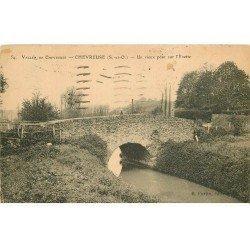 carte postale ancienne 78 VALLEE CHEVREUSE. Vieux Pont sur l'Yvette 1924