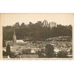 carte postale ancienne 78 VALLEE CHEVREUSE. Vue Ville et Château