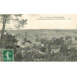 carte postale ancienne 78 VALLEE CHEVREUSE. Panorama Senlisse et Garnes 1909