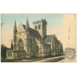 carte postale ancienne 14 DIVES. L'Eglise 1907