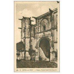 carte postale ancienne 14 DIVES. L'Eglise 1938 Portail