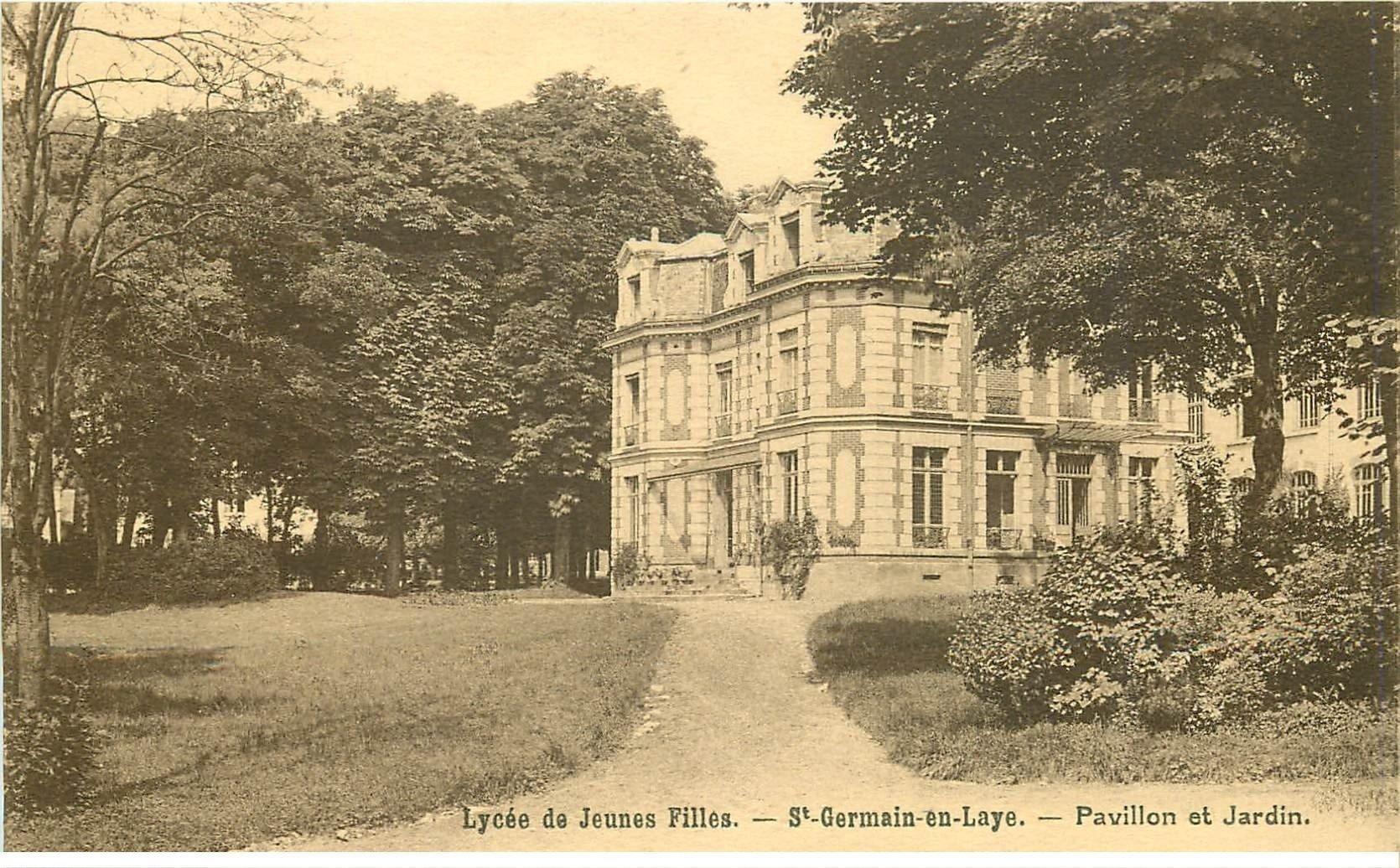 carte postale ancienne K. 78 SAINT-GERMAIN-EN-LAYE. Lycée. Pavillon et Jardin