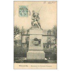 carte postale ancienne 14 DIVES. Monument Souvenir Français 1905
