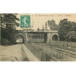 carte postale ancienne K. 78 LE VESINET. Attelage sur le Pont du Chemin de Fer 1909