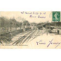 carte postale ancienne K. 78 LE VESINET. Gare des Marchandises 1908