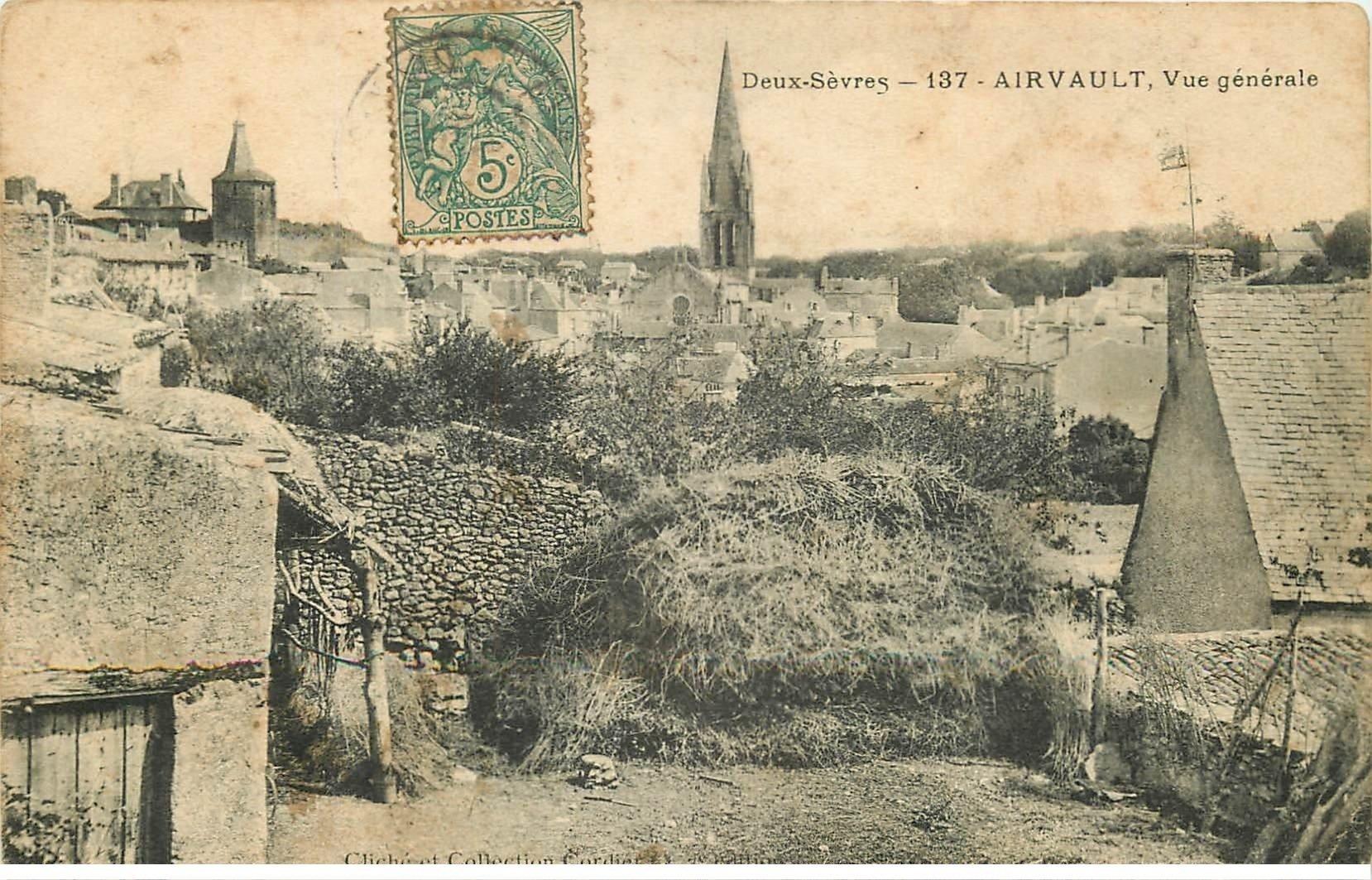 79 airvault vue du village vers 1906 for Airvault 79