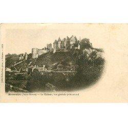 carte postale ancienne 79 BRESSUIRE. Le Château