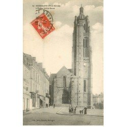 carte postale ancienne 79 BRESSUIRE. Eglise Notre-Dame 1917