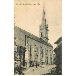 carte postale ancienne 79 BEAULIEU-SOUS-BRESSUIRE. L'Eglise animation