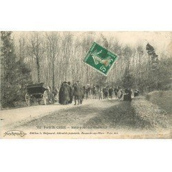 carte postale ancienne 79 CHIZE. Rond-Poind des Houllières en Forêt 1912