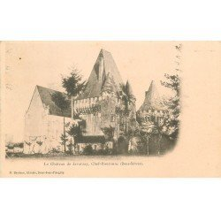 carte postale ancienne 79 CHEF-BOUTONNE. Château de Javarzay vers 1900