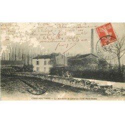 carte postale ancienne 79 CHEF-BOUTONNE. Minoterie de Javarzay 1912 (en l'état)...