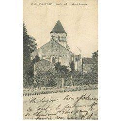 carte postale ancienne 79 CHEF-BOUTONNE. Eglise de Javarzay 1915