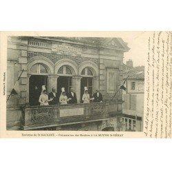 carte postale ancienne 79 LA MOTHE-SAINT-HERAY. Présentation des Rosières à l'Hôtel de Ville