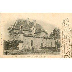 carte postale ancienne 79 LA COUARDE. Château de Faugeré 1904