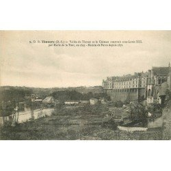 carte postale ancienne 79 THOUARS. Vallée du Thouet et Château