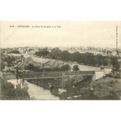 carte postale ancienne 79 THOUARS. Pont Saint-Jacques et Ville
