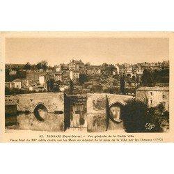 carte postale ancienne 79 THOUARS. La Vieille Ville 1947