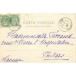 carte postale ancienne 79 THOUARS. Auberge des Trois Rois Rue du Château 1903