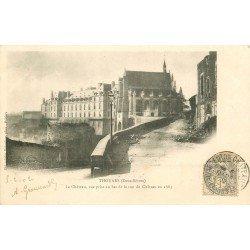 carte postale ancienne 79 THOUARS. Au Bas de la Rue du Château 1902