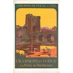carte postale ancienne 79 PARTHENAY. Excursions en Poitou Chemins de Fer de l'Etat