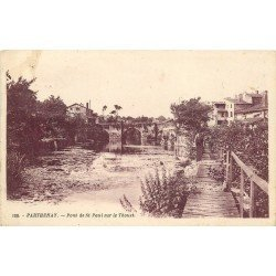 carte postale ancienne 79 PARTHENAY. Pont Saint-Paul sur le Thouet 1931