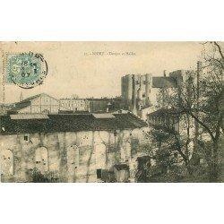 carte postale ancienne 79 NIORT. Donjon et Halles 1907