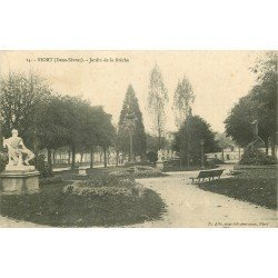 carte postale ancienne 79 NIORT. Jardin de la Brèche 1914