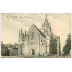 carte postale ancienne 14 FALAISE. Personnage Eglise de Guibray