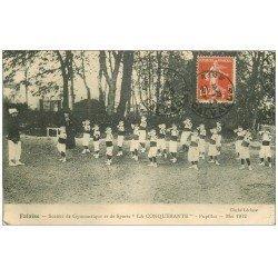 carte postale ancienne 14 FALAISE. Pupilles La Conqurérante. Société Gymnastique et Sports 1914