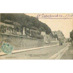 carte postale ancienne 79 NIORT. Anciens Remparts Rue des Douves 1905