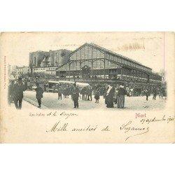 carte postale ancienne 79 NIORT. Les Halles 1901