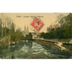 carte postale ancienne 79 NIORT. La Sèvre Quai de la Préfecture 1912