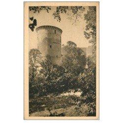 carte postale ancienne 14 FALAISE. Tour Talbot du Château de Guillaume le Conquérant. Timbre Pétain 1942