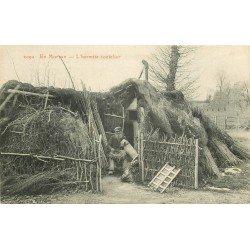 58 EN MORVAN. L'Hermite coutelier et son Chien 1915. Vieux métiers
