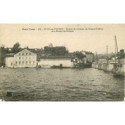 87 AIXE SUR VIENNE. Usine Moulin du Châtea 1914