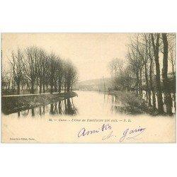 carte postale ancienne 02 GUISE. L'Oise au Familistère 1902