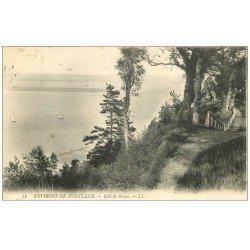 carte postale ancienne 14 HONFLEUR. Côte de Grâce 1908