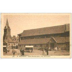 carte postale ancienne 14 HONFLEUR. Eglise Sainte-Catherine 1927